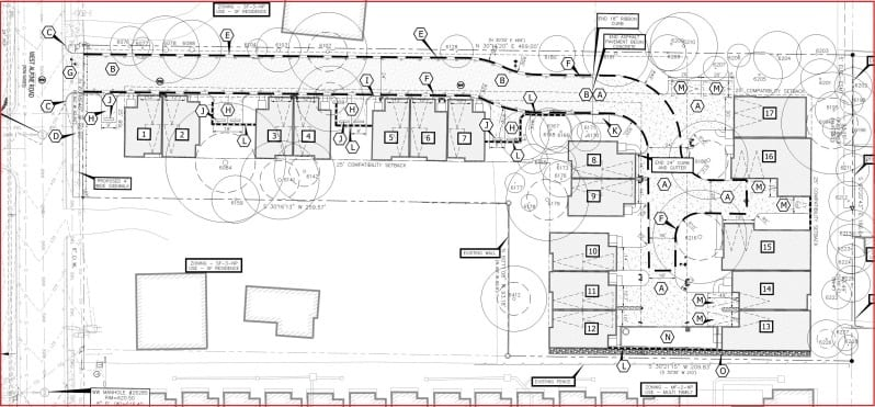 Detached Single Family Condo Site Plan
