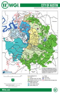 City of Austin Watershed Map