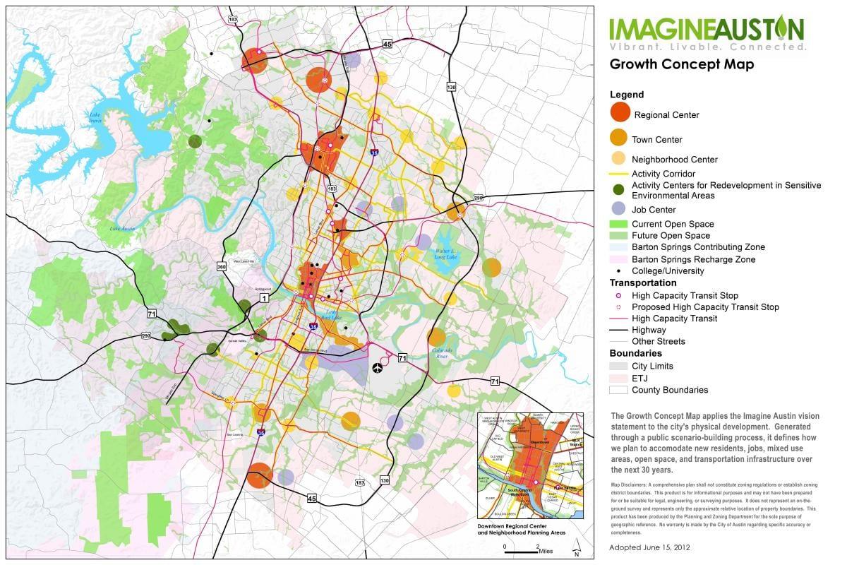 Imagine Austin Growth Concept Map 1