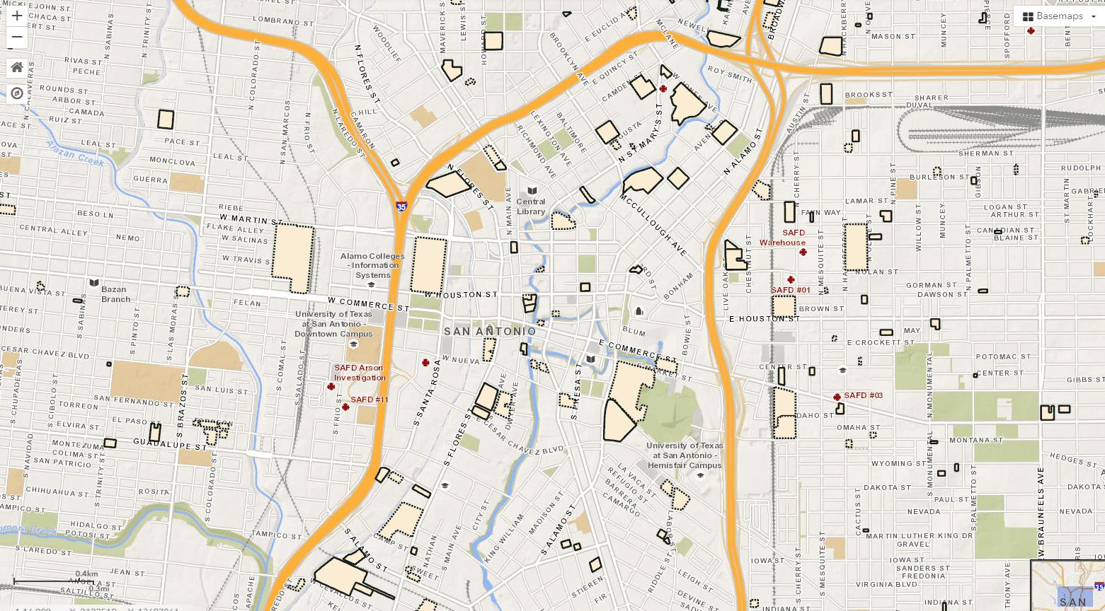San Antonio Zoning Map