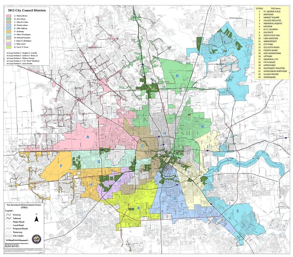 TIRZ Map Houston