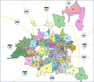 Houston Super Neighborhood Map