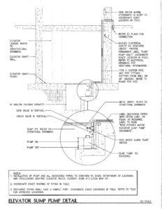 Elevator Pit Sump detail Austin