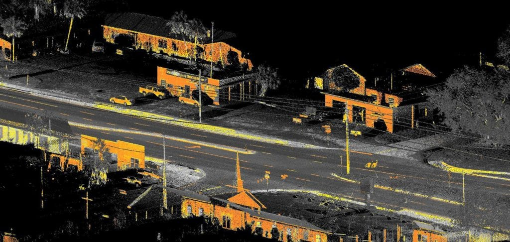 Mobile LiDAR point cloud data