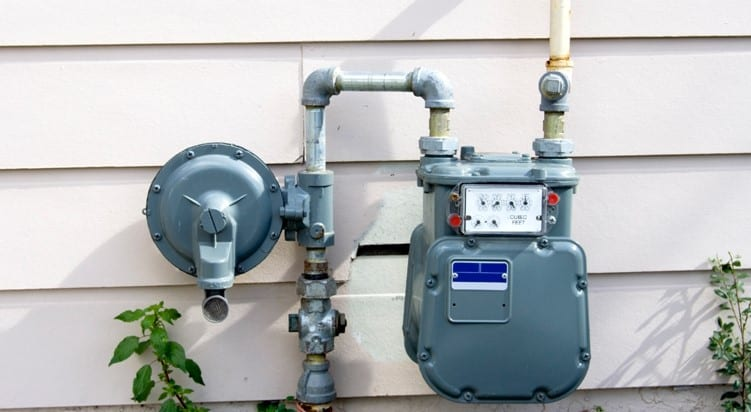 Gas Service and Meter