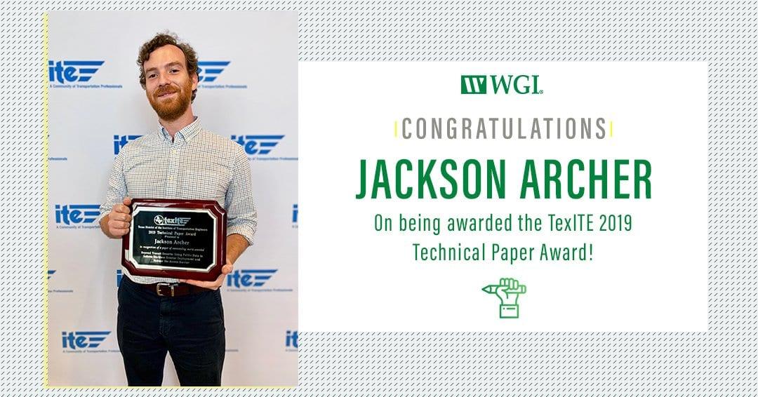 Jackson Archer TexITE Award
