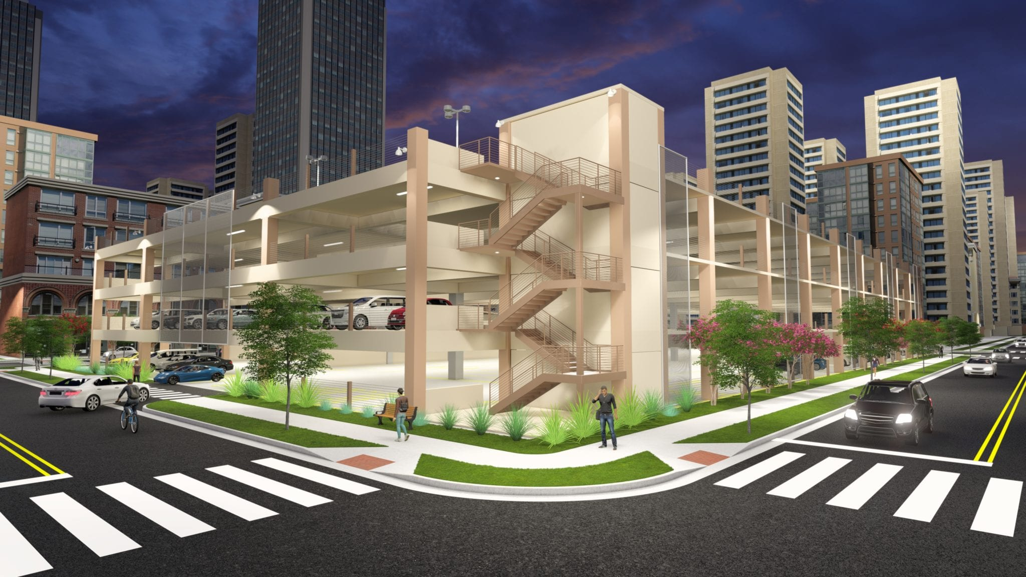 Parking Garage Rendering 1