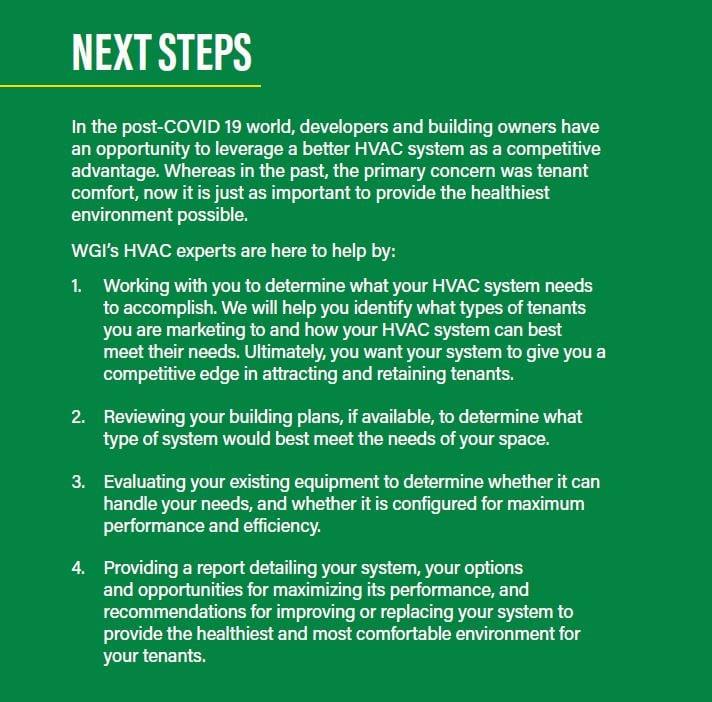 HVAC retrofit MEP COVID