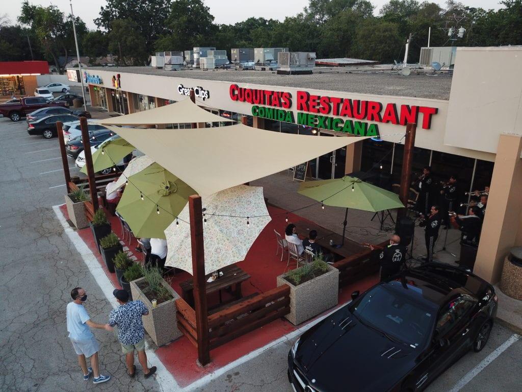 Cuquita's Restaurant outdoor patio Farmers Branch