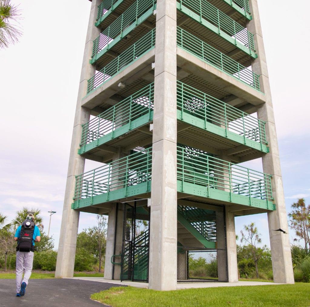 Backpack LiDAR Scan of the Wellington Environmental Preserve Observation Tower, Wellington, FL