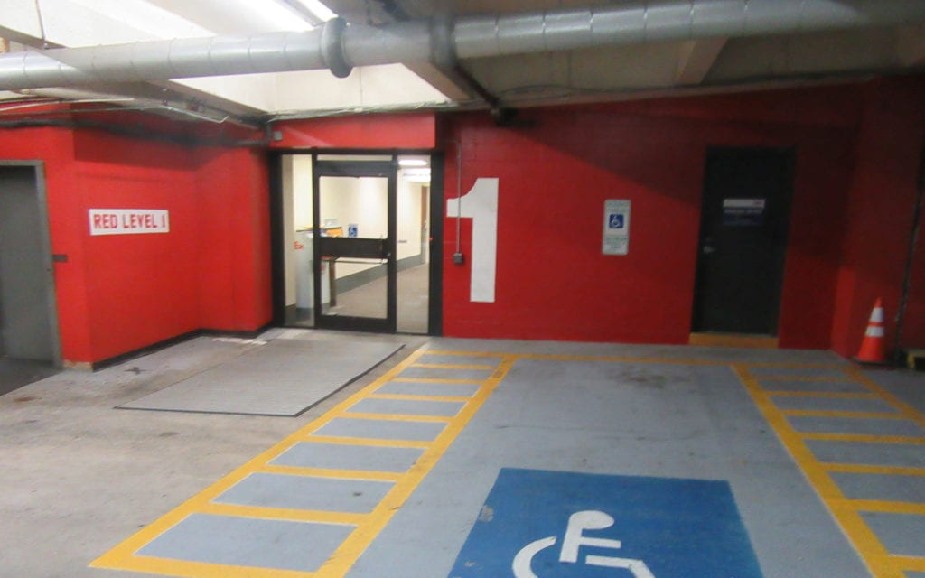 ADA Parking Spaces on Level 1