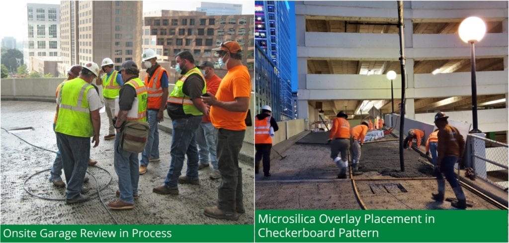Microsilica Overlay Pre-Pour Meeting - Microsilica Overlay Placement in Checkerboard Pattern