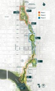 Waterloo Greenway Phase Map