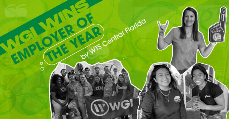 WTS employer of year graphic